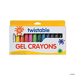 12-Color Twistable Gel Crayons