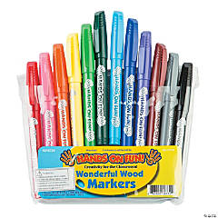 12-Color Wonderful Wood Markers