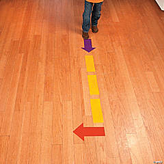 12 Dash Lines & Arrows Floor Clings