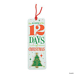 12 Days of Christmas Laminated Bookmarks with Pin