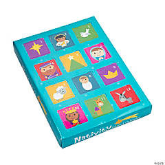 12 Days of Christmas Nativity Toy Advent Calendar Set