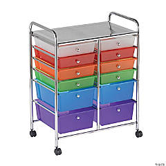 12 Drawer (8 Plus 4) Mobile Organizer - Assorted