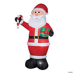 12 Ft. Blow Up Inflatable Santa with Gift & Candy Cane