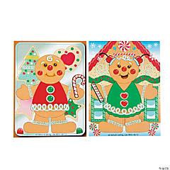 12 Gingerbread Man Sticker Sheets