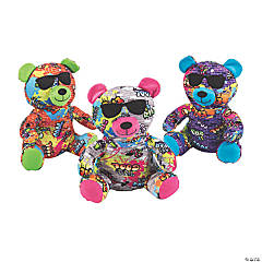 """12"""" Graffiti Stuffed Bear"""