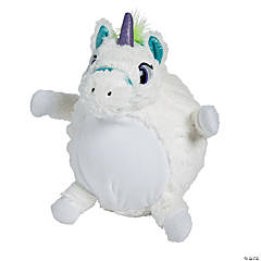 "12"" Inflatable Plush Unicorn"