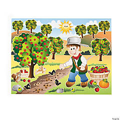 12 Johnny Appleseed Sticker Scenes