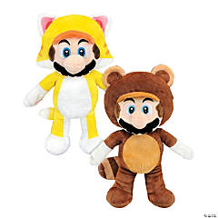"12"" Stuffed Cat Mario™ & Tanooki Mario™"