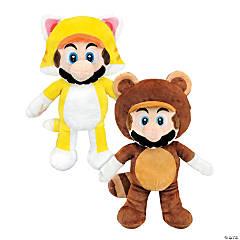 "12"" Stuffed Cat Mario™ & Tanooki Mario™"