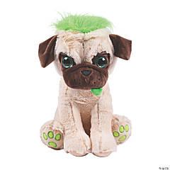 "12"" Stuffed Pugs with Crazy Hair - Medium"