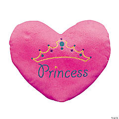 "13.5"" Plush ""Princess"" Heart Pillow"