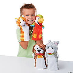 "14.5"" Melissa & Doug® Playful Pet Hand Puppets"