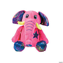"15"" Neon Stuffed Elephant"