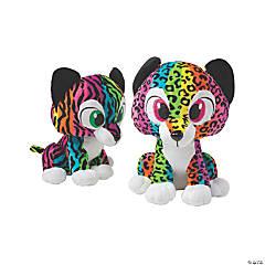 "15"" Rainbow Stuffed Cheetah or Tiger"