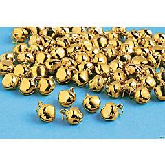 150 Goldtone Jingle Bell Charms