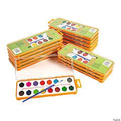 16-Color Watercolor Paint Trays