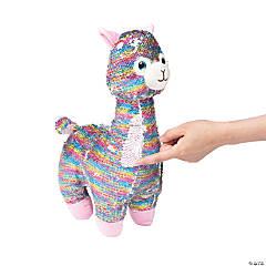 "16"" Flipping Sequin Stuffed Lilly Llama"