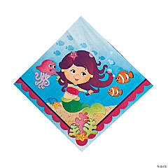 16 Mermaid Party Luncheon Napkins