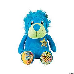 "16"" Neon Stuffed Lion"