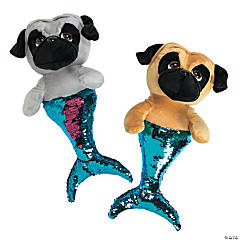 "16"" Plush Flipping Sequin Merpug"