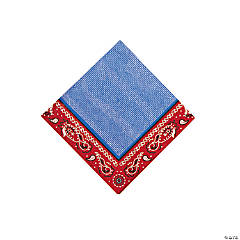 16 Red Bandana Beverage Napkins
