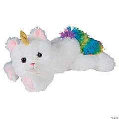 "16"" White Stuffed Caticorn"