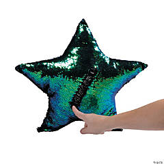 "17"" Plush Flipping Sequin Star Pillow"