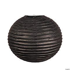 """18"""" Black Hanging Paper Lanterns"""
