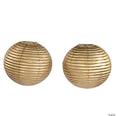 """18"""" Gold Hanging Paper Lanterns"""