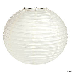 "18"" Ivory Paper Lanterns"