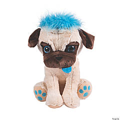 """18"""" Stuffed Pugs with Crazy Hair - Large"""