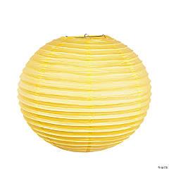 """18"""" Yellow Hanging Paper Lanterns"""