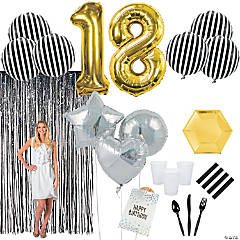 18th Birthday Party Tableware Kit for 20 Guests