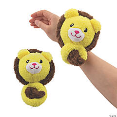 "19"" Wearable Pom Pet Stuffed Lions"