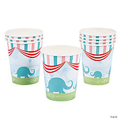 1st Birthday Circus Paper Cups