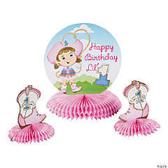1st Birthday Cowgirl Centerpiece