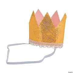 1st Birthday Girl Glitter Crown