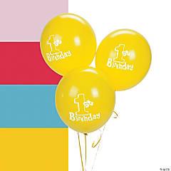 1st Birthday Latex Balloons