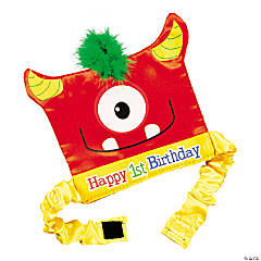 1st Birthday Mini Monster Party Hat