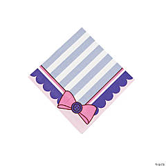 1st Birthday Miss Sock Monkey Beverage Napkins