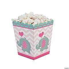 1st Birthday Pink Elephant Popcorn Boxes