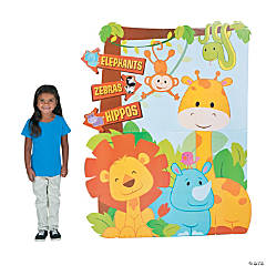1st Birthday Zoo Directional Sign Stand-Up