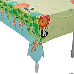 1st Birthday Zoo Plastic Tablecloth