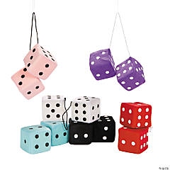 "2.75"" Hanging Plush Dice"