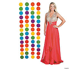 2 ft. x 5 ft. Rainbow Polka Dots Hanging Decoration – 4 Pc.