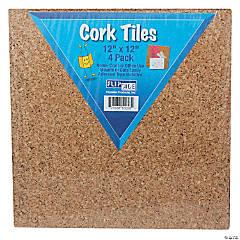 (2 Pk) Cork Tiles 12Inx12In 4 Per