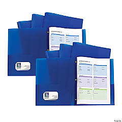 2-Pkt Heavyweight Portfolio Folder Blue