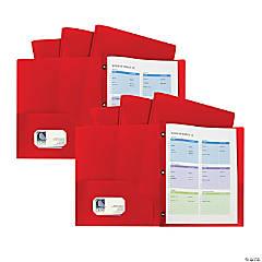 2-Pkt Heavyweight Portfolio Folder Red