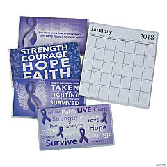2017 - 2018 Purple Awareness Ribbon Pocket Planners