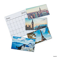 2018 - 2019 Around the World Pocket Calendars